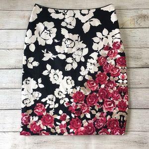 White House Black Market Floral Pencil Skirt 2